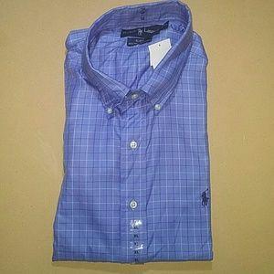 Ralph Lauren Blake Button Windowpane Shirt, XL